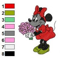 Minnie Mouse Embroidery 10