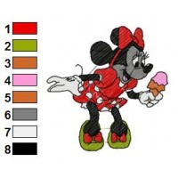 Minnie Mouse Embroidery 12