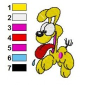 Odie Embroidery Design