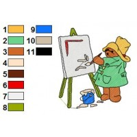 Paddington Bear Embroidery 11