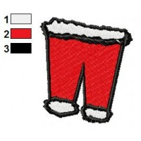 Pants Of Santa Claus Embroidery Design