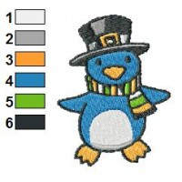 Penguin Christmas Embroidery Design