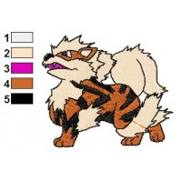 Pokemon Arcanine Embroidery Design
