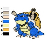 Pokemon Blastoise Embroidery Design