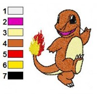 Pokemon Charmander Embroidery Design