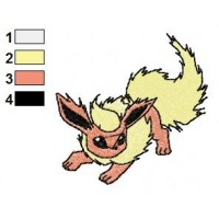 Pokemon Flareon Embroidery Design