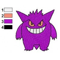 Pokemon Gengar Embroidery Design