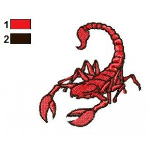 Red Scorpion Tattoo Embroidery Design