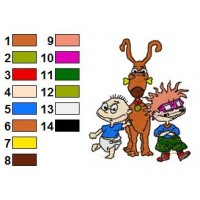 Rugrats Embroidery Design 16