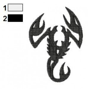 Scorpion Tattoo Embroidery Design 02