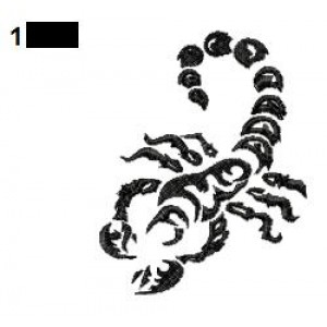 Scorpion Tattoo Embroidery Design 11