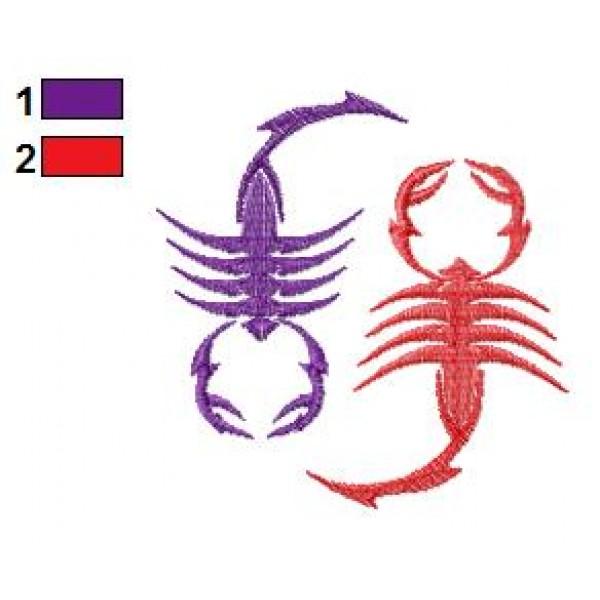 scorpion tattoo embroidery design 31. Black Bedroom Furniture Sets. Home Design Ideas