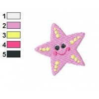 Sea Star Cartoon Embroidery Design