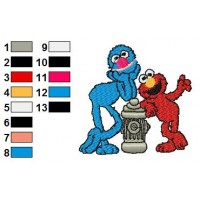 Sesame Street 03 Embroidery Design