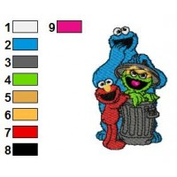 Sesame Street 05 Embroidery Design