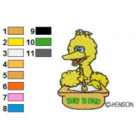 Sesame Street Big Bird 04 Embroidery Design