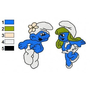 Smurfs Embroidery Design 15