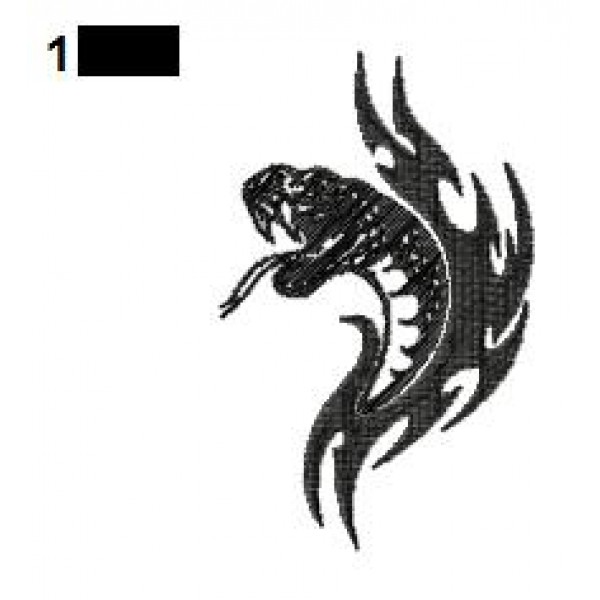 Snake Tattoo Embroidery Design 15