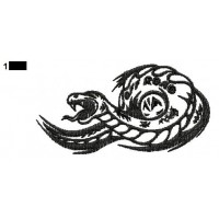Snake Tattoo Embroidery Design 16