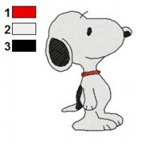 Snoopy Embroidery Design 3