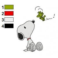 Snoopy Embroidery Design 6