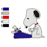 Snoopy Embroidery Design 9