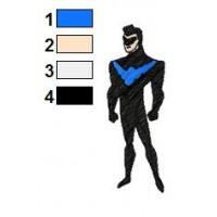 Superman Batman Embroidery Design 1