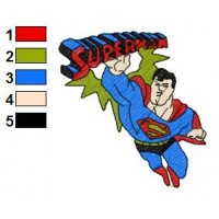 Superman Batman Embroidery Design 13