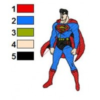 Superman Batman Embroidery Design 15