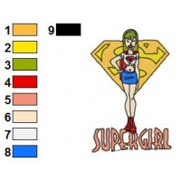 Superman Batman Embroidery Design 17