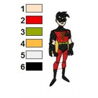 Superman Batman Embroidery Design 20