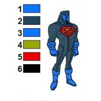 Superman Batman Embroidery Design 3