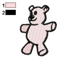 Teddy Bear Embroidery Design 04