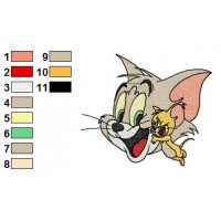 Tom and Jerry Embroidery Design 1