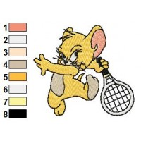 Tom and Jerry Embroidery Design 13