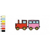 Train Toy Embroidery Design