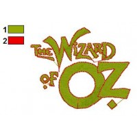 Wizard Of Oz Embroidery Design 1